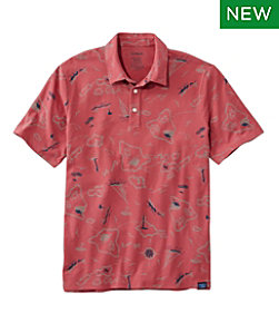 Men's Stonecoast Stretch Polo, Short-Sleeve, Print