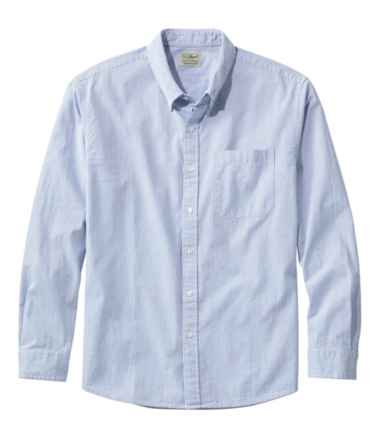 Men's Organic Cotton Seersucker Shirt, Long-Sleeve, Traditional Fit, Stripe