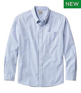 Men's Organic Cotton Seersucker Shirt, Long-Sleeve, Traditional Fit, Stripe