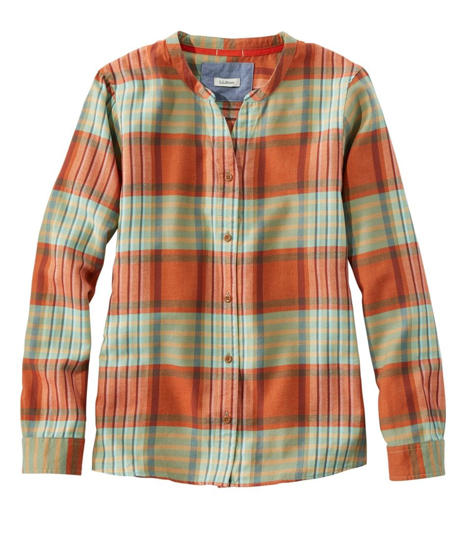 Rangeley Flannel Shirt, Collarless