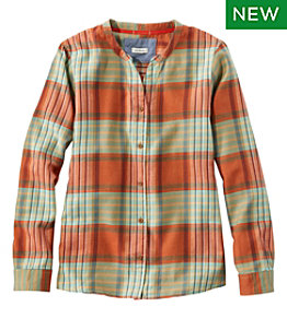 Women's Rangeley Flannel Shirt, Collarless