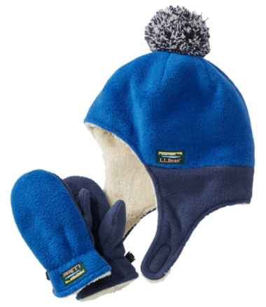 Toddlers' Mountain Classic Fleece Hat and Mitten Set
