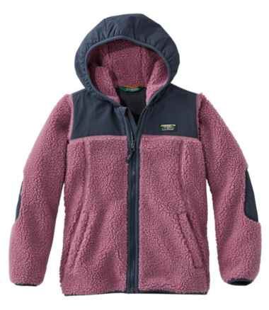 Kids' Sherpa Fleece Hooded Jacket