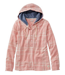Women's Textured Linen/Cotton Anorak, Plaid
