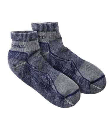 Adults' Cresta Wool Lightweight Hiking Socks, Quarter-Crew