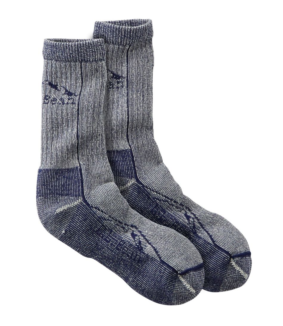 Adults' Cresta Wool Midweight Hiking Socks, Crew