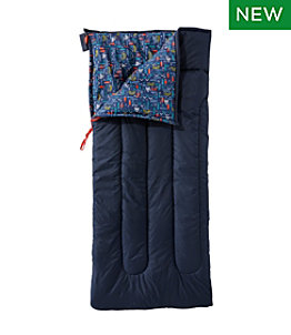 Kids' L.L.Bean Cotton-Blend Camp Sleeping Bag, 40°