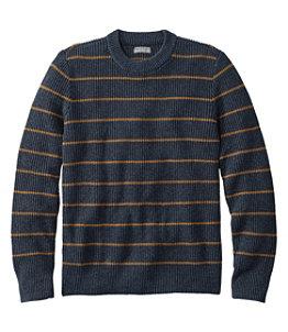 Men's Signature Shaker Stitch Sweater, Crewneck, Stripe