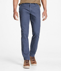 Men's Signature Stretch Washed Canvas Cloth Pants, Slim Straight