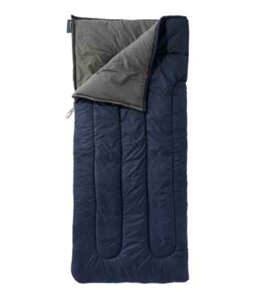 Adults' Camp Sleeping Bag, Cotton-Blend-Lined 40°F