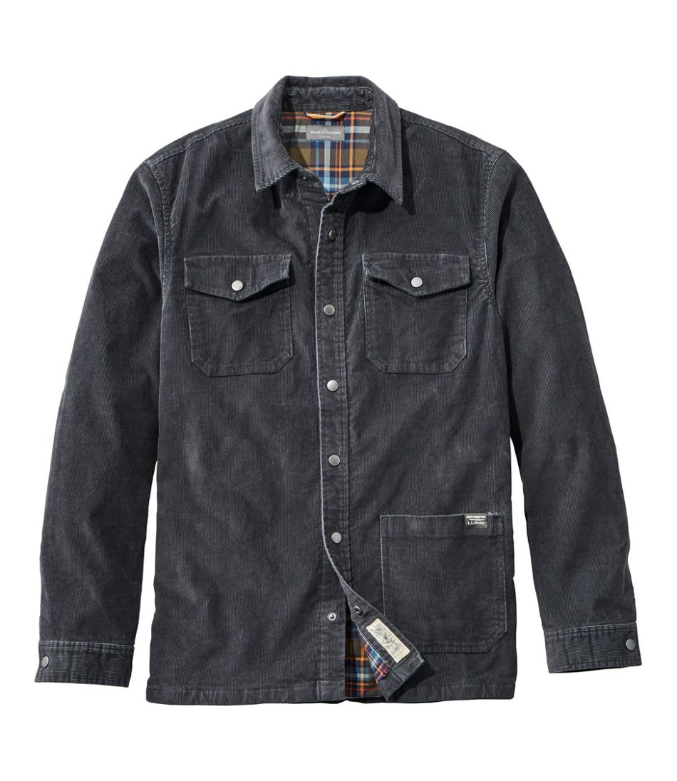 Men's Signature Corduroy Shirt Jac, Flannel-Lined