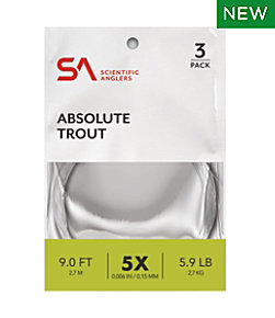 Scientific Anglers Absolute Trout Leaders, 9' 3-Pack