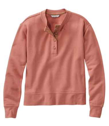 Women's Signature Organic Cotton Sweatshirt, Henley