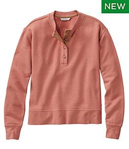 Women's Signature Organic Cotton Sweatshirt, Henley