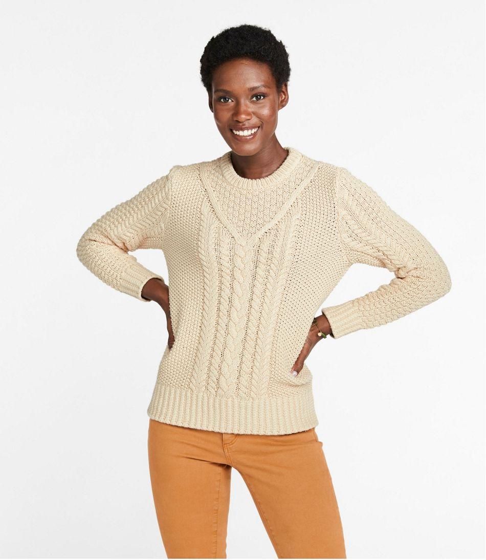 Women's Signature Cotton Fisherman Sweater, Pullover