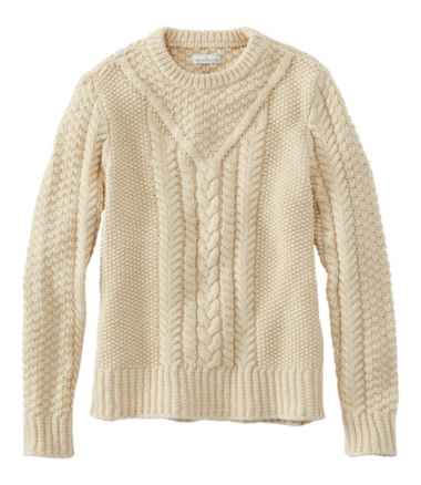 Women's Signature Cotton Fisherman Sweater, Pullover
