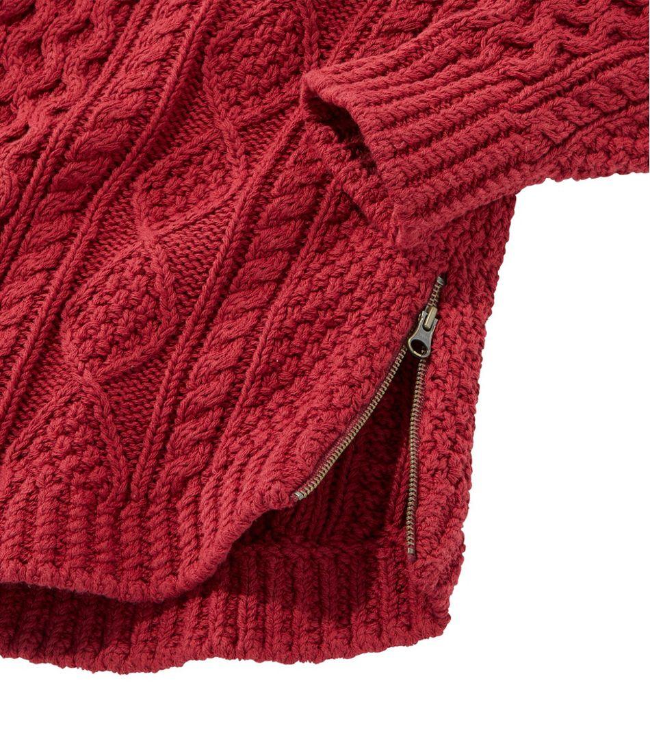 Signature Cotton Fisherman Tunic Sweater, Fair Isle