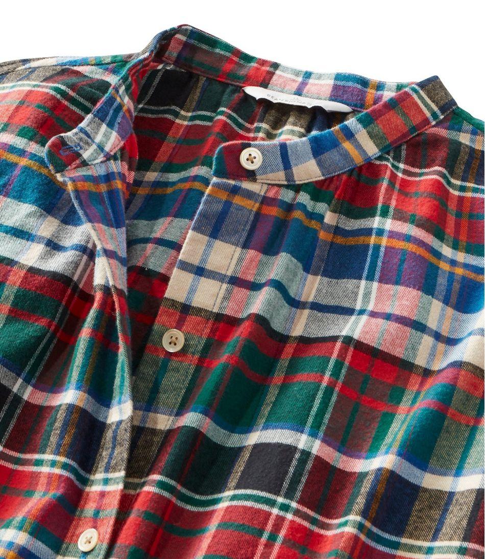 Women's Signature Lightweight Flannel Shirt, Collarless