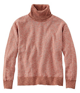 Women's Signature Cotton/Linen Ragg Sweater,Turtleneck