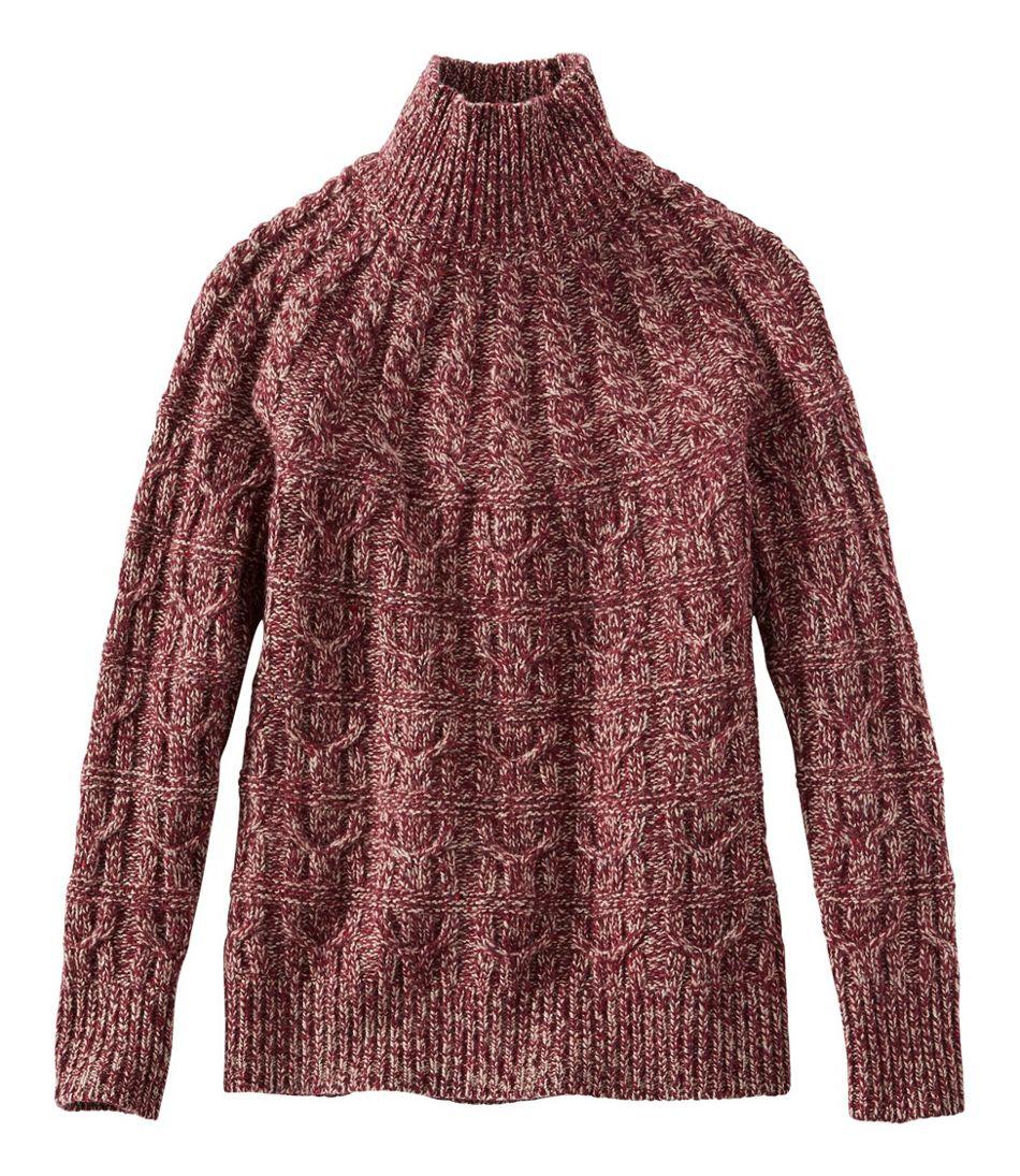 Women's Signature Ragg Wool Sweater, Mockneck Pullover