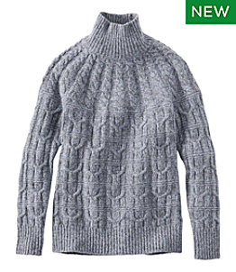 Women's Signature Ragg Wool Sweater, Mockneck Pullover