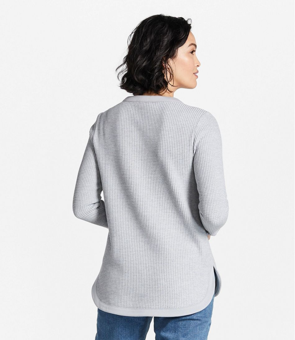 Women's Signature Brushed-Back Waffle Boatneck