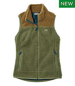 Women's Mountain Pile Fleece Vest, Colorblock