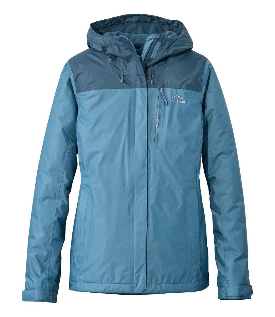 Women's Trail Model Rain Jacket, Fleece-Lined, Colorblock