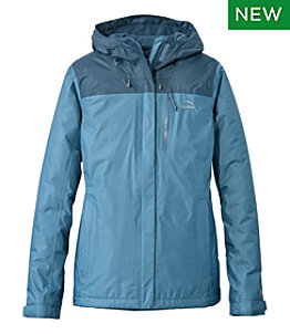 Women's Trail Model Rain Jacket, Fleece-Lined, Colorblock