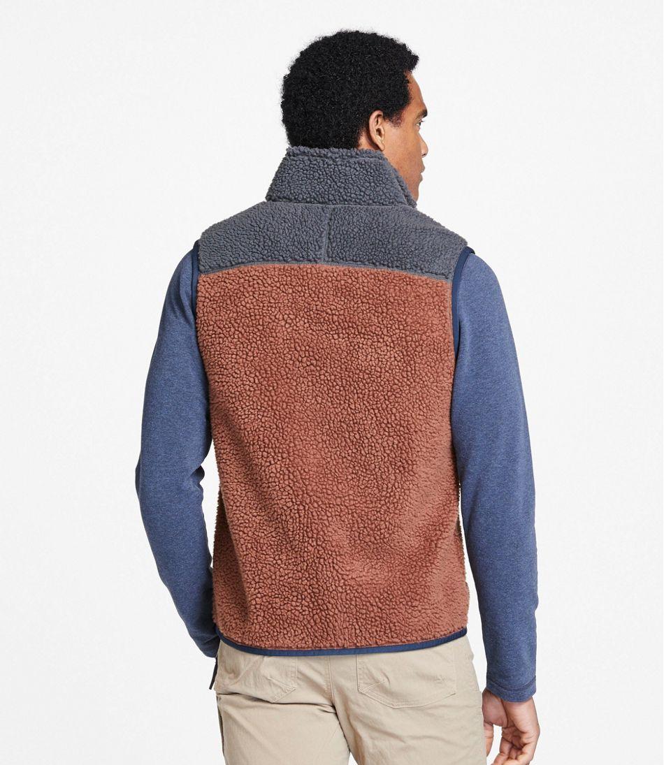 Men's Mountain Pile Fleece Vest, Colorblock