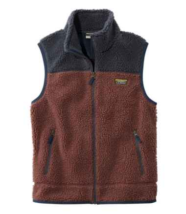 Men's Mountain Pile Fleece Vest, Colorblock