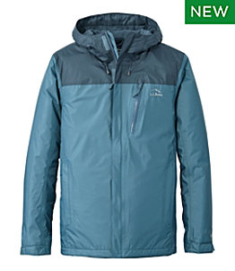 Men's Trail Model Rain Jacket, Fleece-Lined, Colorblock