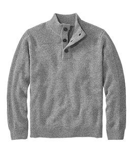 Men's Washable Lambswool Sweaters, Mock