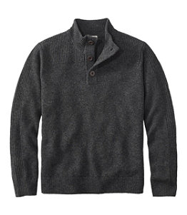 Men's Washable Lambswool Sweaters, Mock