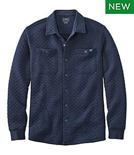 Men's Quilted Sweatshirts, Snap Overshirt
