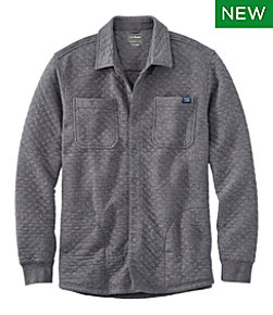 Men's Quilted Sweatshirts, Snap Overshirt