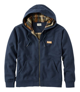 Men's Katahdin Iron Works Hooded Sweatshirt, Flannel-Lined
