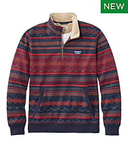 Men's Sherpa Collar Quarter-Zip Sweatshirt, Print