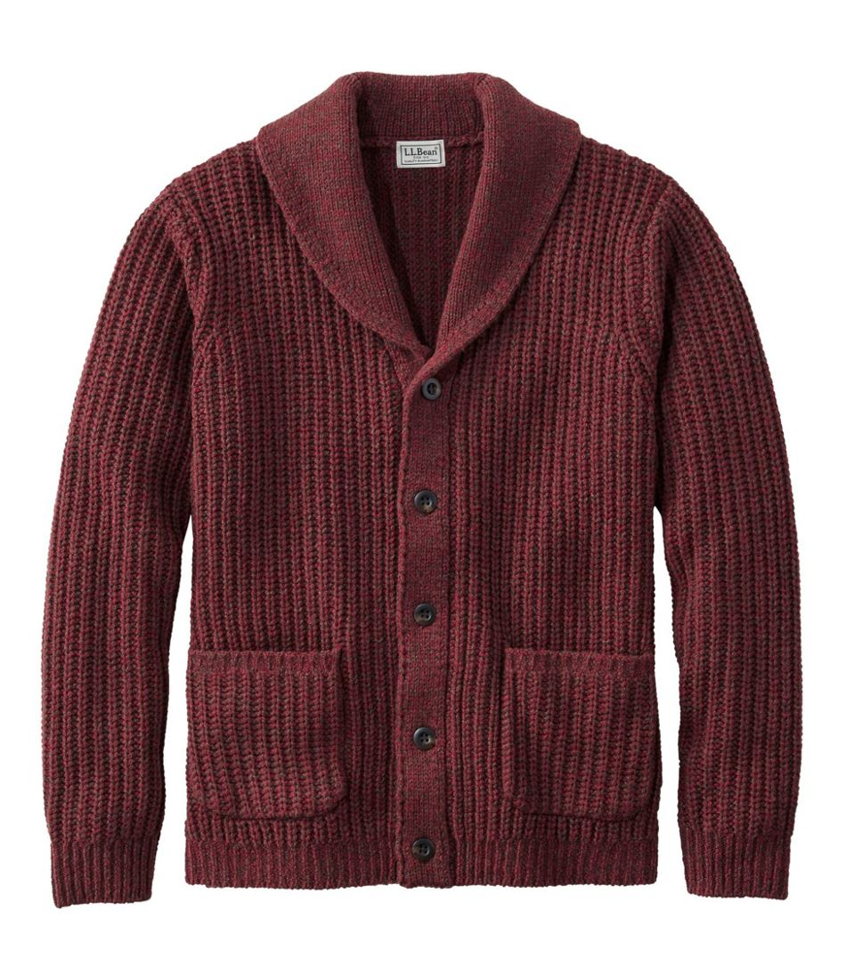 1920s Men's Fashion: What did men wear in the 1920s? Mens L.L.Bean Classic Ragg Wool Sweaters Cardigan $99.00 AT vintagedancer.com