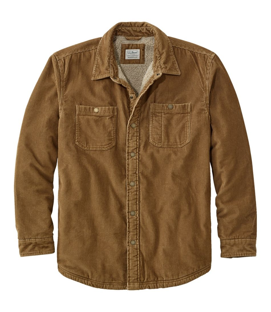 60s 70s Men's Jackets & Sweaters Mens 1912 Heritage Lined Shirt Jac Corduroy $99.00 AT vintagedancer.com