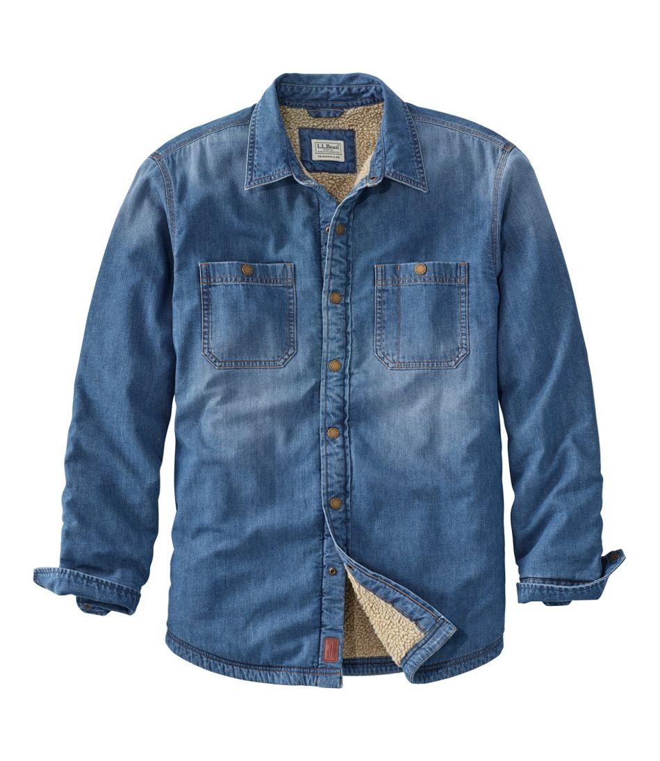 Men's Vintage Workwear – 1920s, 1930s, 1940s, 1950s Mens 1912 Heritage Lined Shirt Jac Denim $99.00 AT vintagedancer.com