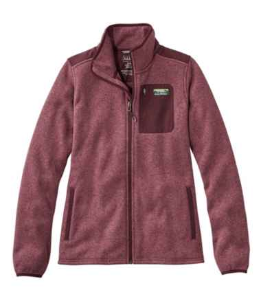 Women's L.L.Bean Sweater Fleece Full-Zip Overlay Jacket
