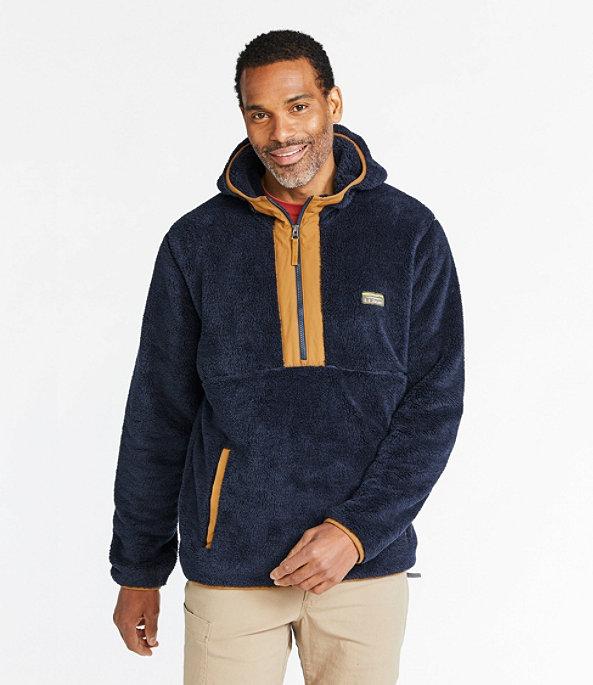 L.L.Bean Hi-Pile Fleece Hooded Pullover, , large image number 1