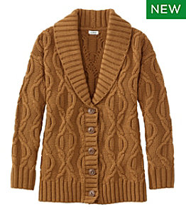 Women's Cozy Fisherman Sweater, Cardigan