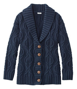 Women's Cozy Fisherman Sweater, Cardigan