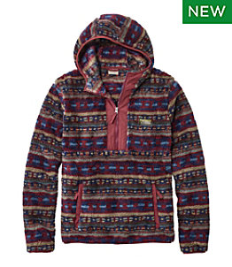 Men's L.L.Bean Hi-Pile Fleece Hoodie, Print