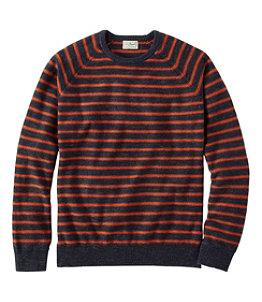 Men's Textured Organic Cotton Sweater, Crewneck, Stripe