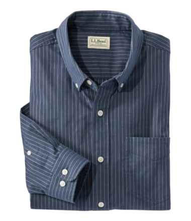 Men's Comfort Stretch Oxford Shirt, Slightly Fitted, Stripe