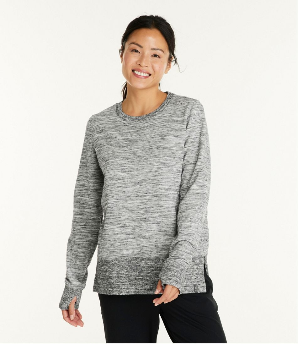Women's Bean's Cozy Sweatshirt, Split-Hem Marled