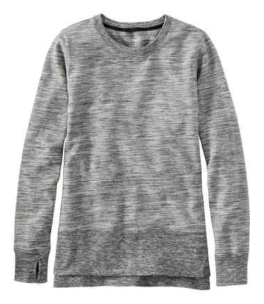 Women's L.L.Bean Cozy Sweatshirt, Split-Hem Marled